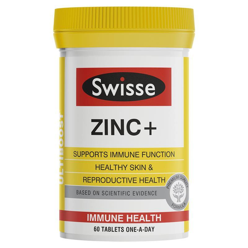 Swisse Zinc+ 60 Tablets By Stockup.sg.
