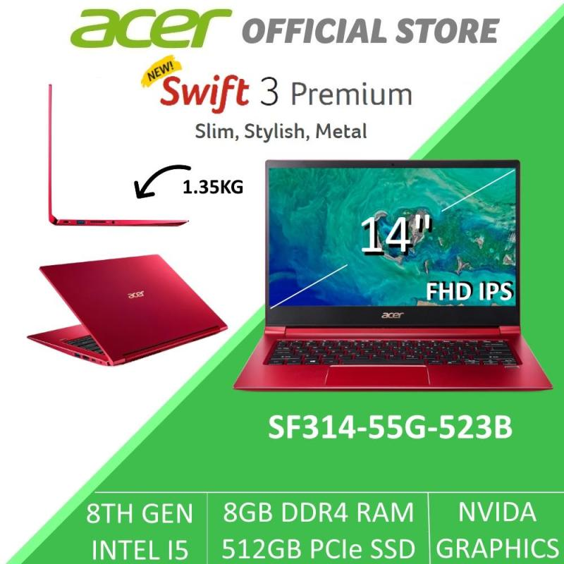 Acer Swift 3 Premium SF314-55G-523B 14-Inch Intel i5 with NVIDIA Graphics Laptop