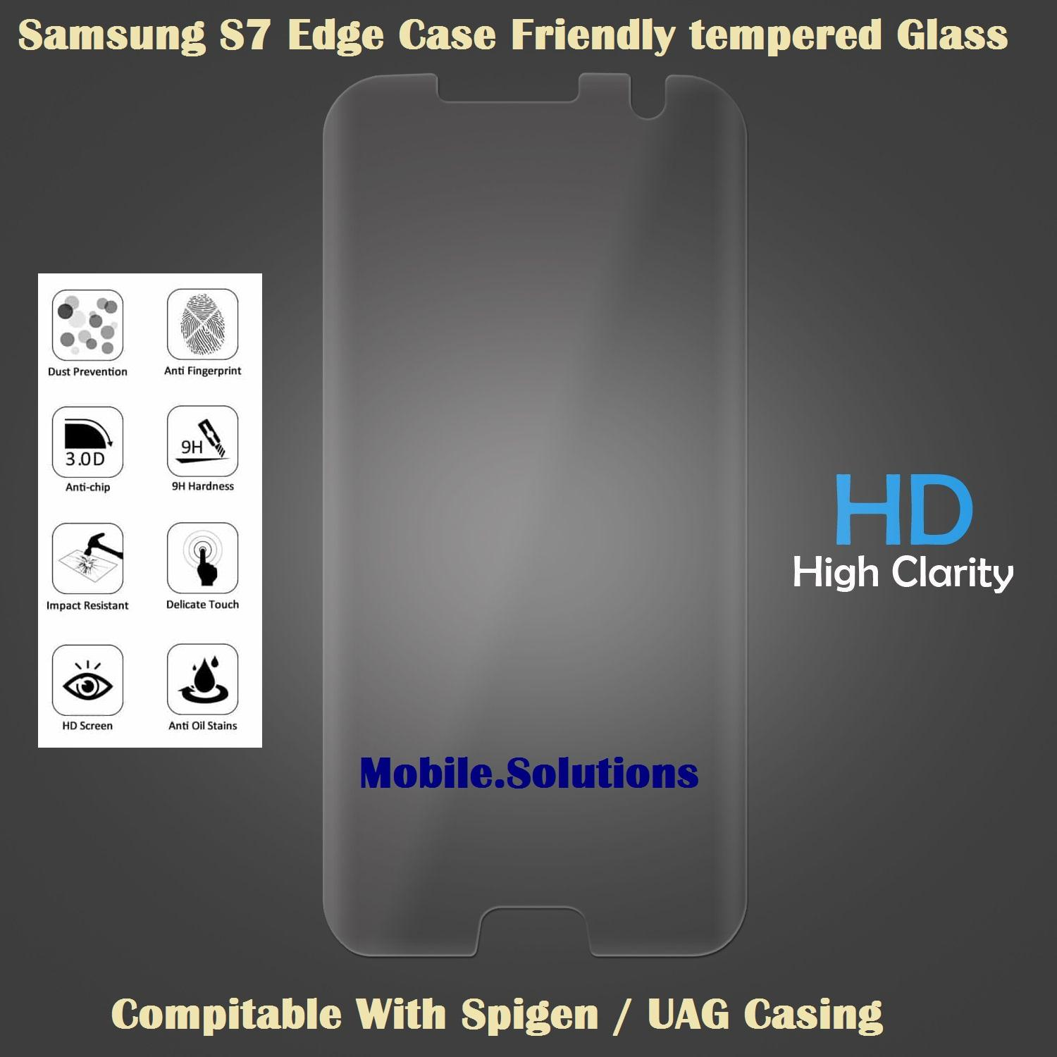 Where Can I Buy Samsung S7 Edge Full Coverage Tempered Glass Case Friendly Clear