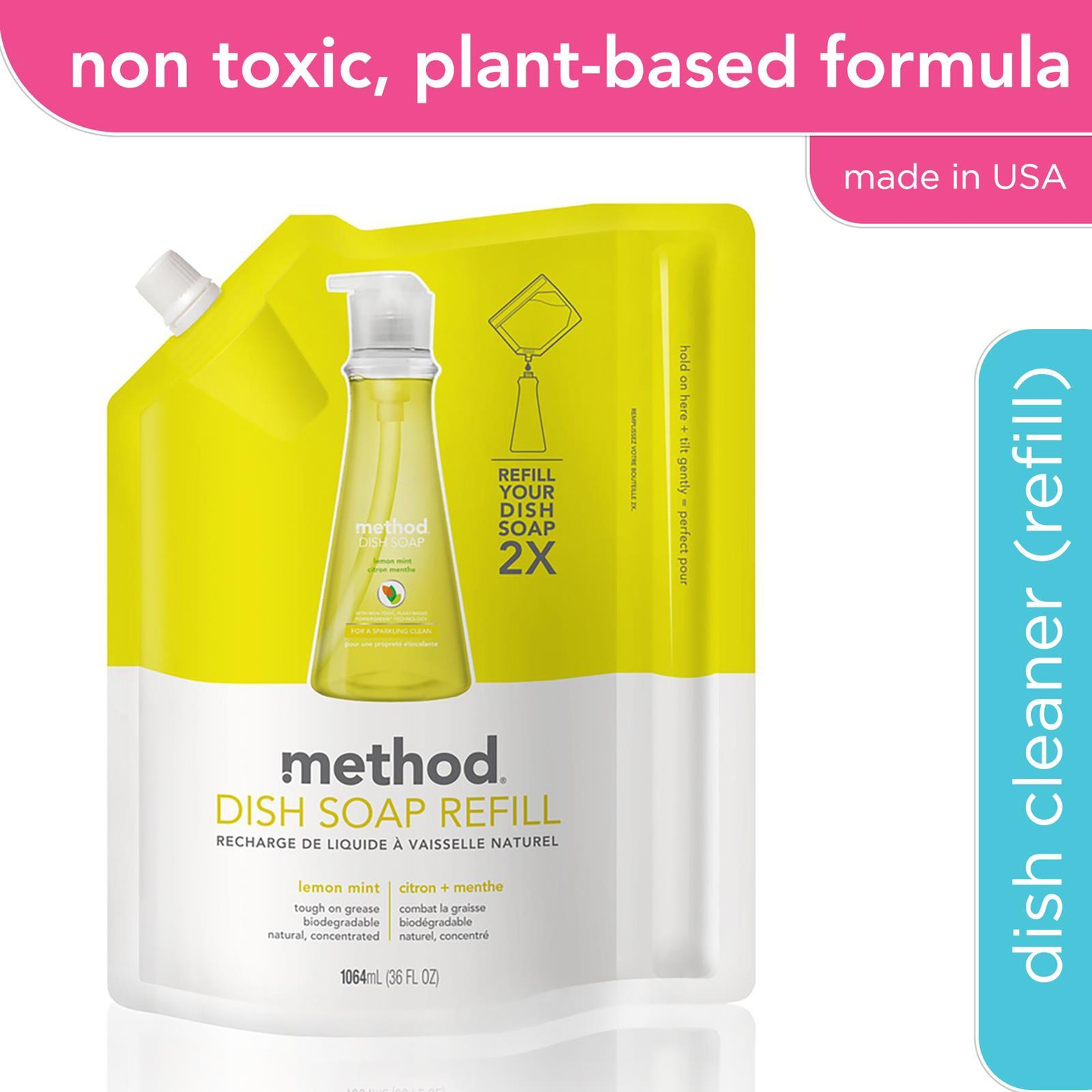 Method Dish Soap Refill - Lemon Mint 1l By Corlison.