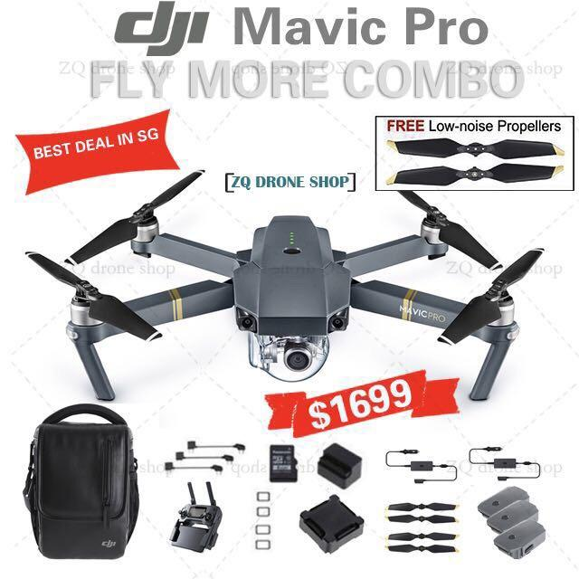 Discounted Dji Mavic Pro Fly More Combo Local Set And Local Warranty