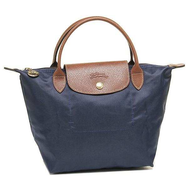 Great Deal Longchamp 1621 Le Pliage Nylon Tote Navy Blue