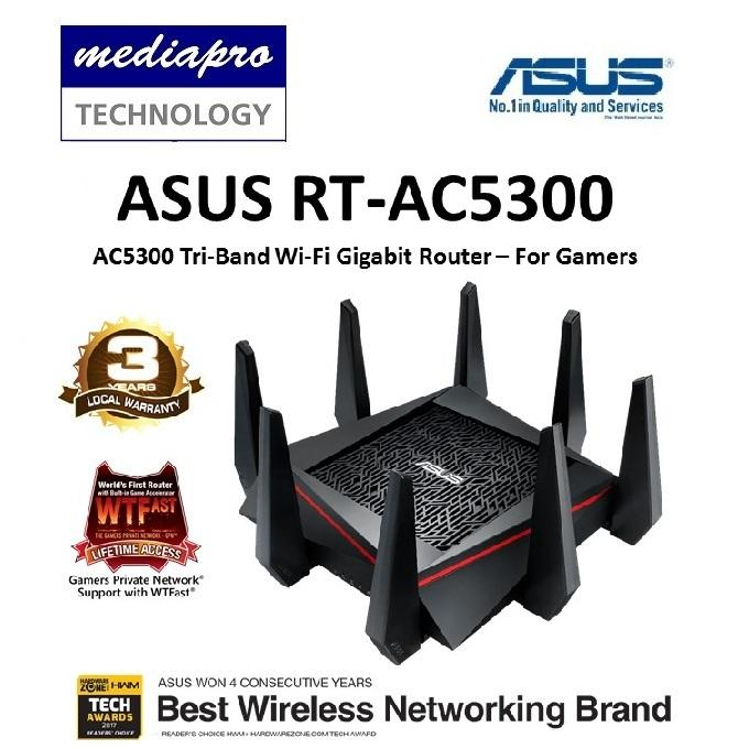 Asus Rt-Ac5300 Ac5300 Tri-Band Wi-Fi Gigabit Router By Mediapro.