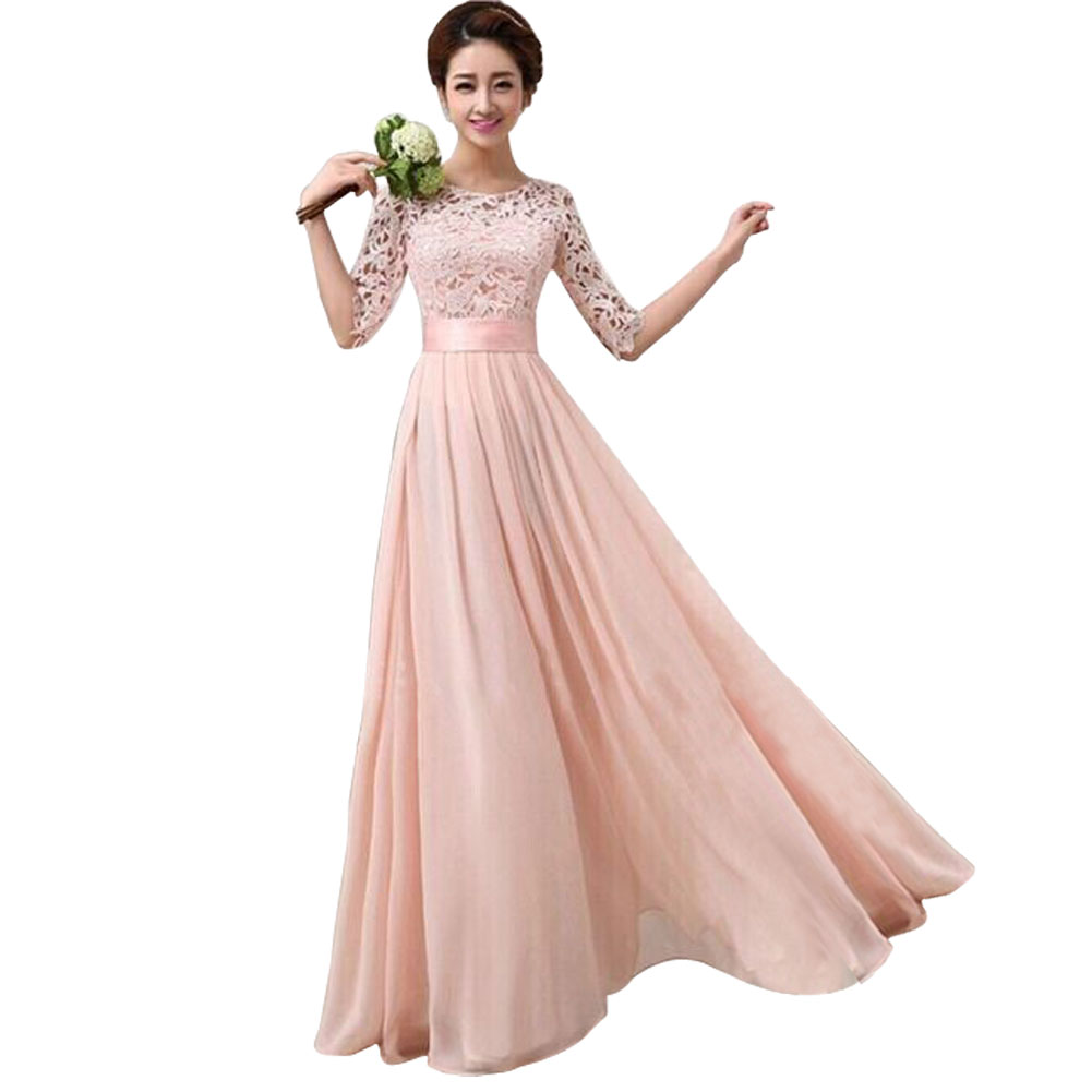 Specifications of Elegant Long Sleeve Ball Gown Evening Party Long Dress - Intl
