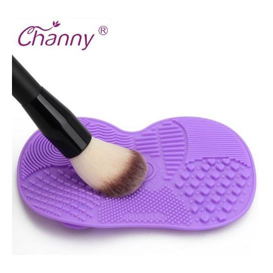 Silicone Cosmetic Make-Up Brush Cleaner Mat * Cleaning Pad For Eyebrow Brushes * Scrubber Board By Faltech Singapore.