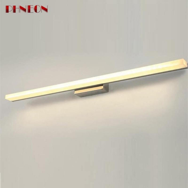 PHNEON Sxzm Modern Led Mirror Light 8w 10w Waterproof Wall Lamp Fixture Ac220v Acrylic Wall Mounted Bathroom Lighting
