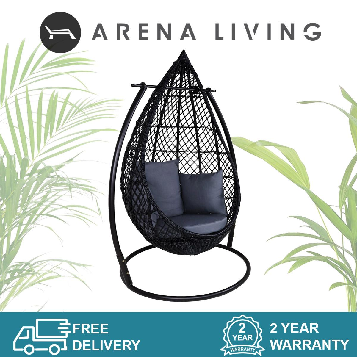 Mulia Cocoon Swing Chair, Grey Cushion