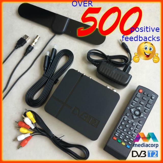 Digital Tv Set Top Box Singapore Bundle With Flat Active Indoor Dtv Dvb-T2 Antenna And Hdmi Cable By Kristinehere.