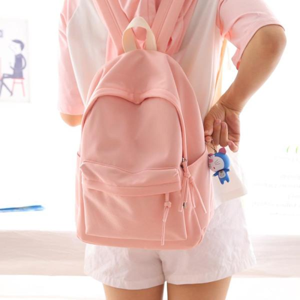 New Products Nr Solid Color Shi Shang Xiao Fresh Backpack Female Shoulders Middle School Students School Bag Female Korean Style Casual Backpack