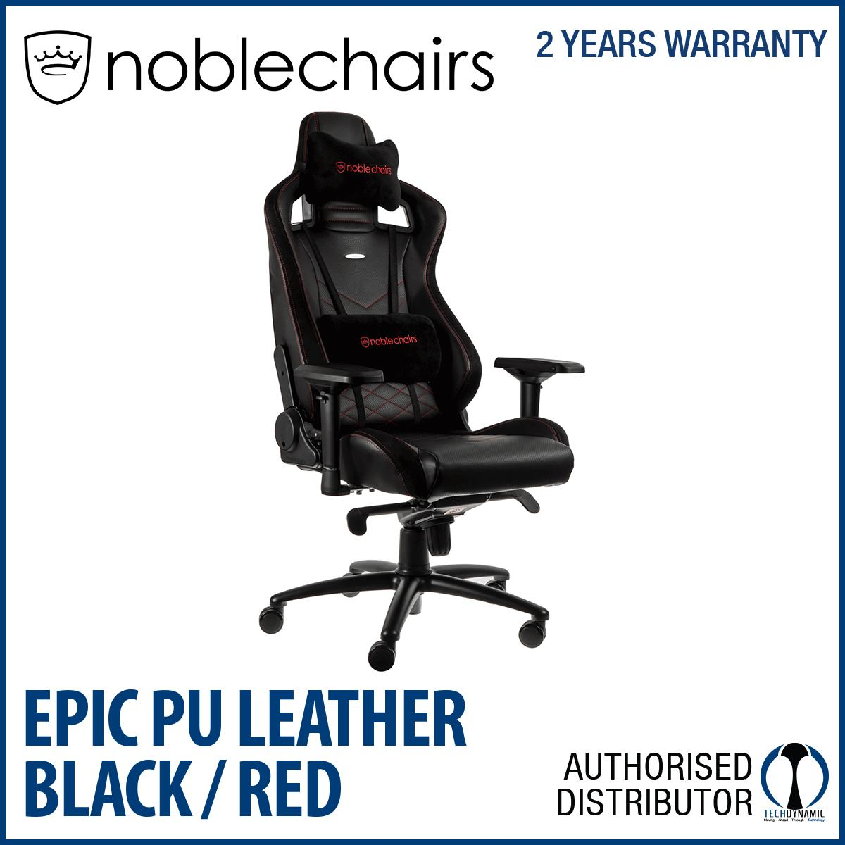 Lowest Price Noble Chairs Gaming Chair Epic Series Black Red