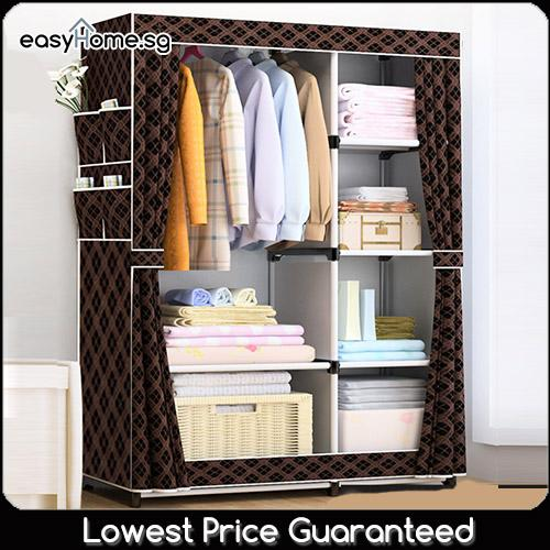 Wardrobe GY18 - Clothes Rack/ Closet / Hanger Shelves Storage