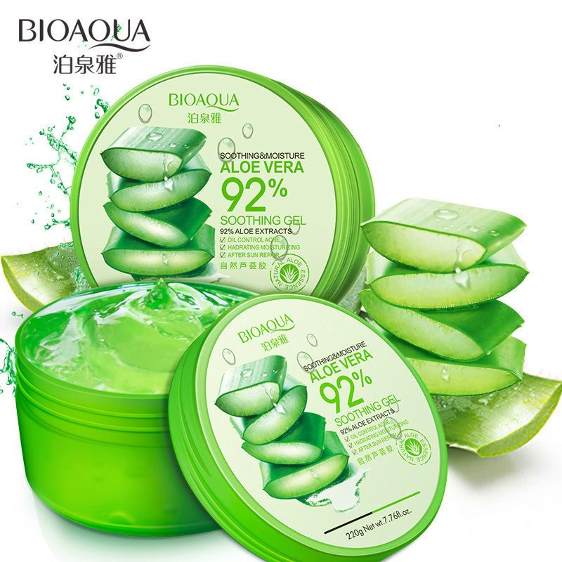 Bioaqua 220g Natural Aloe Vera Smooth Gel Acne Treatment Face Cream For Hydrating Moist Repair By Initial Avenue.