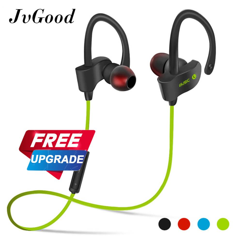 JvGood Bluetooth Headphones Wireless Sports Earphones w/ Mic HD Stereo Sweatproof Earbuds for Gym Running