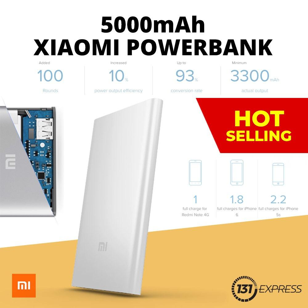Low Cost Xiaomi 5 000Mah Fast Charging Slim Powerbank
