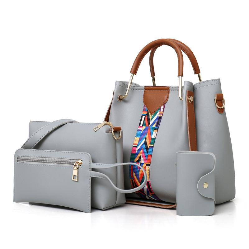 Popheko 2018 Lady Bucket Bag 3 Bags Set Shoulder Bag handbag