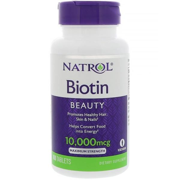 Buy Natrol, Biotin, 10,000 mcg, 100 Tablets Singapore