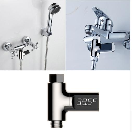 Sale Leegoal Led Visual Bath Faucet Water Temperature Sensor Home Child Digital Shower Temperature Intl China Cheap