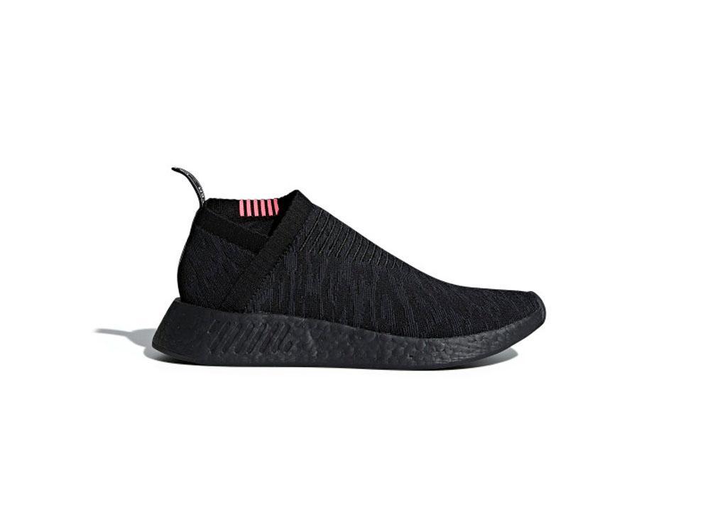 9293d87de4afc adidas Originals NMD CS2 Primeknit Mens CQ2373 Core Black   Carbon   Shock  Pink