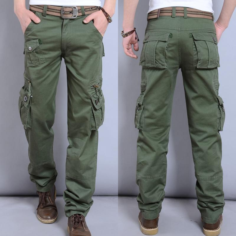 Autumn And Winter Thick Men's Overalls Multi-pockets Casual Pants Trousers Outdoor Mountain Climbing Army