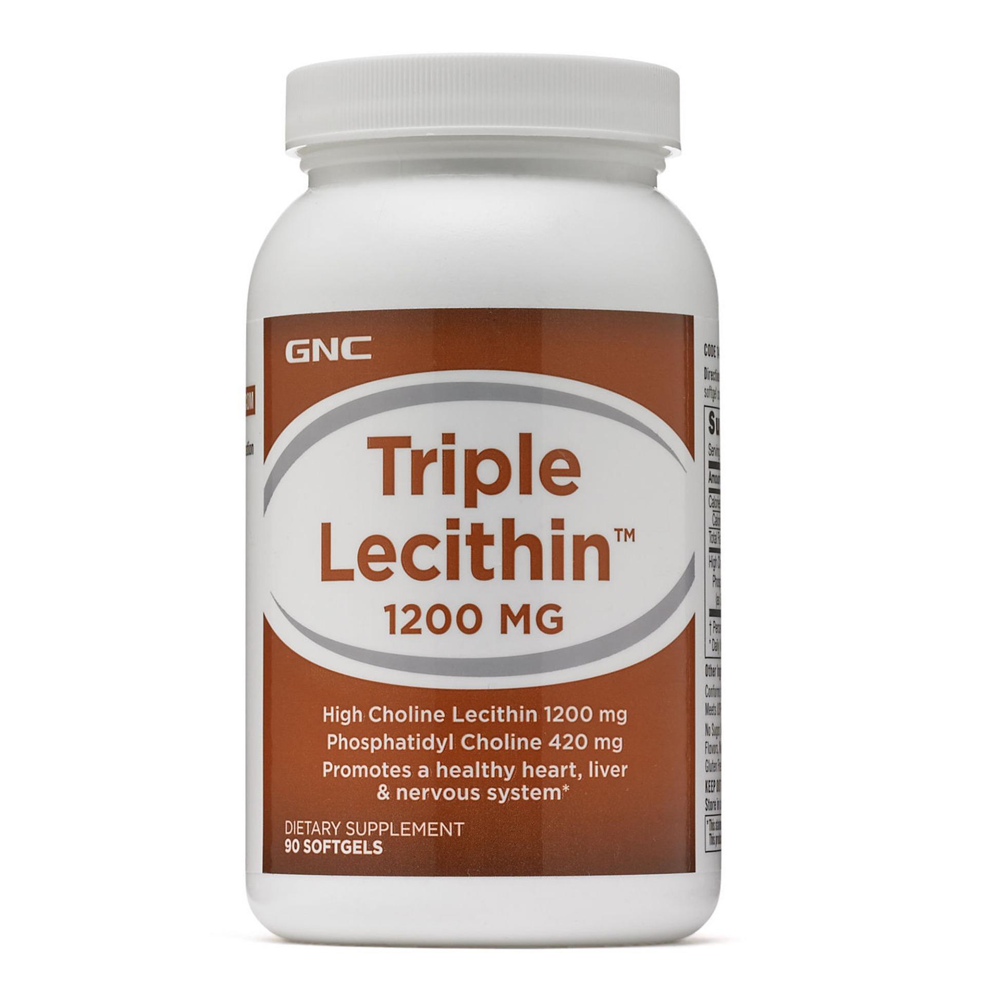 Best Deal Gnc Triple Lecithin 1200 Mg 90 Softgels