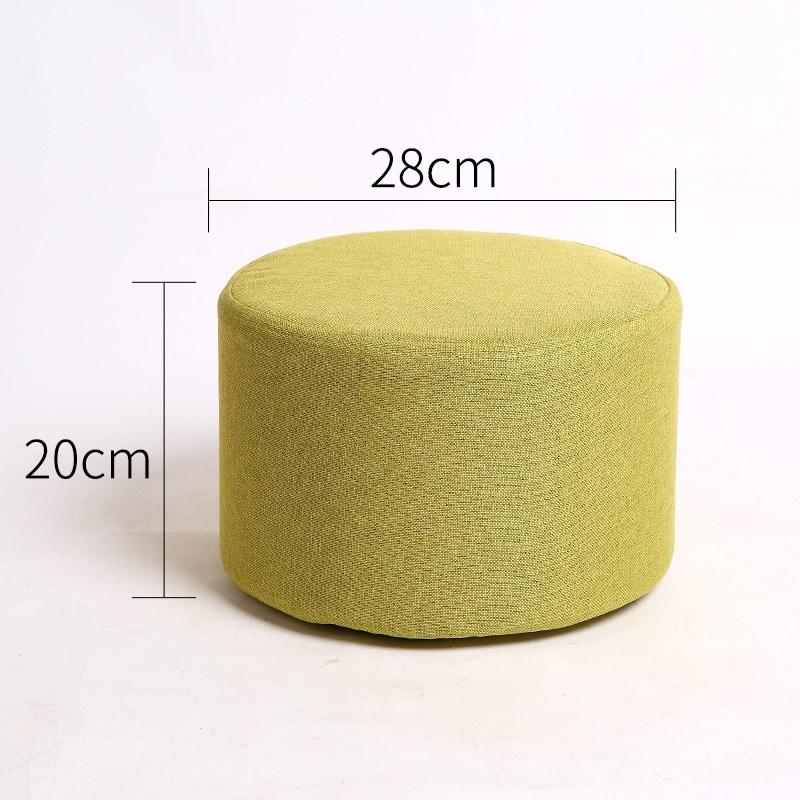 Simple European Low Stool Shi Shang Xiao Polyester round Sofa Stool Footstool Fabric Small Bench Short Pier Children Stool Teapoy Table Stool
