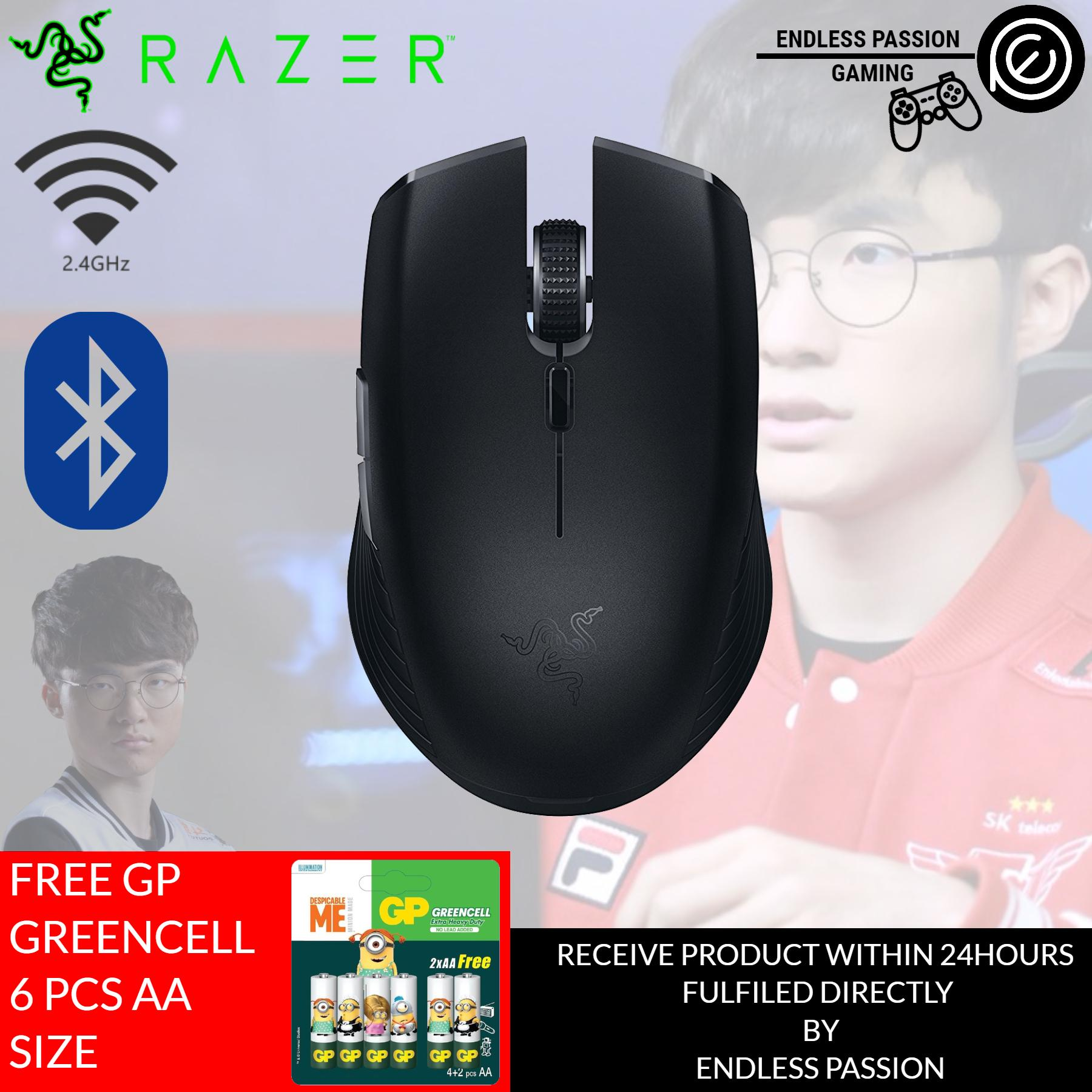 Razer Atheris - Ambidextrous Bluetooth Wireless Portable Gaming-Grade Mouse - 7,200 DPI Optical Sensor