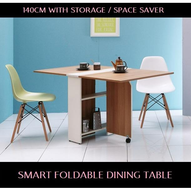 Recent Foldable Smart Dining Table 140Cm