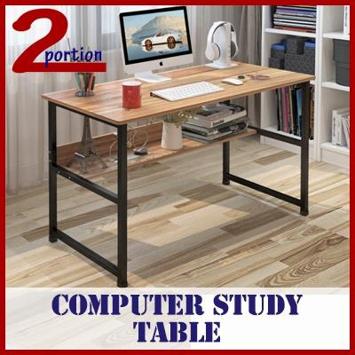 120*50CM COMPUTER STUDY TABLE WITH BOTTOM SHELF / GAMING TABLE / CHILDREN TABLE / SELF FIX