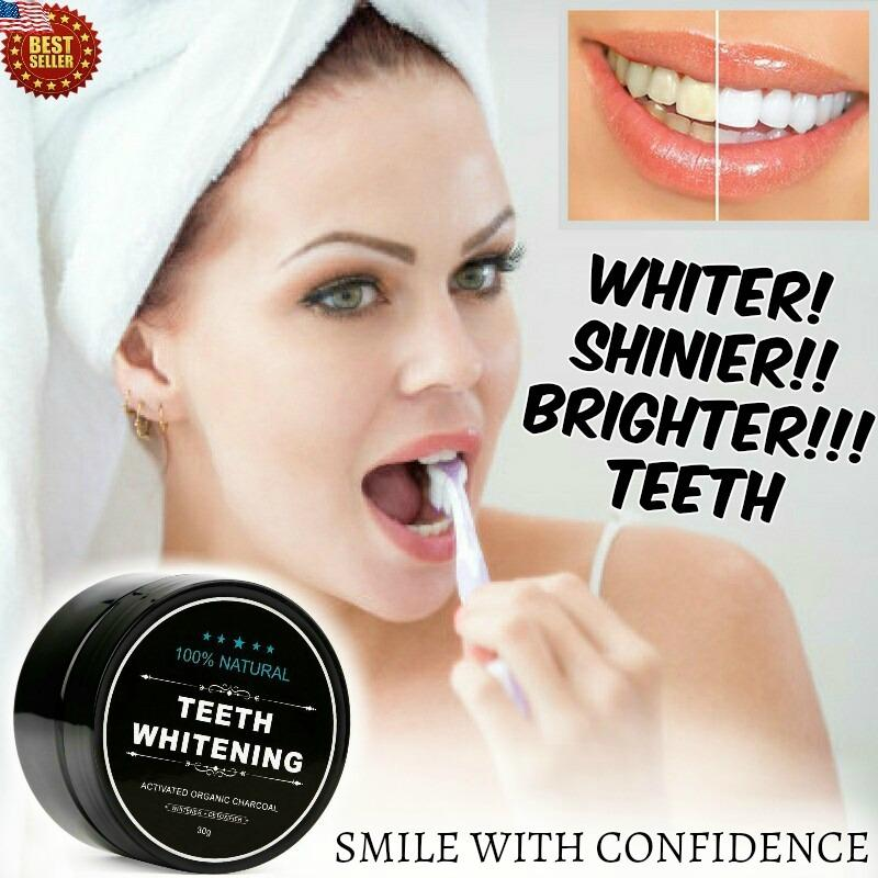 100 Natural Organic Charcoal Activated Powder Teeth Whitening Authentic Online