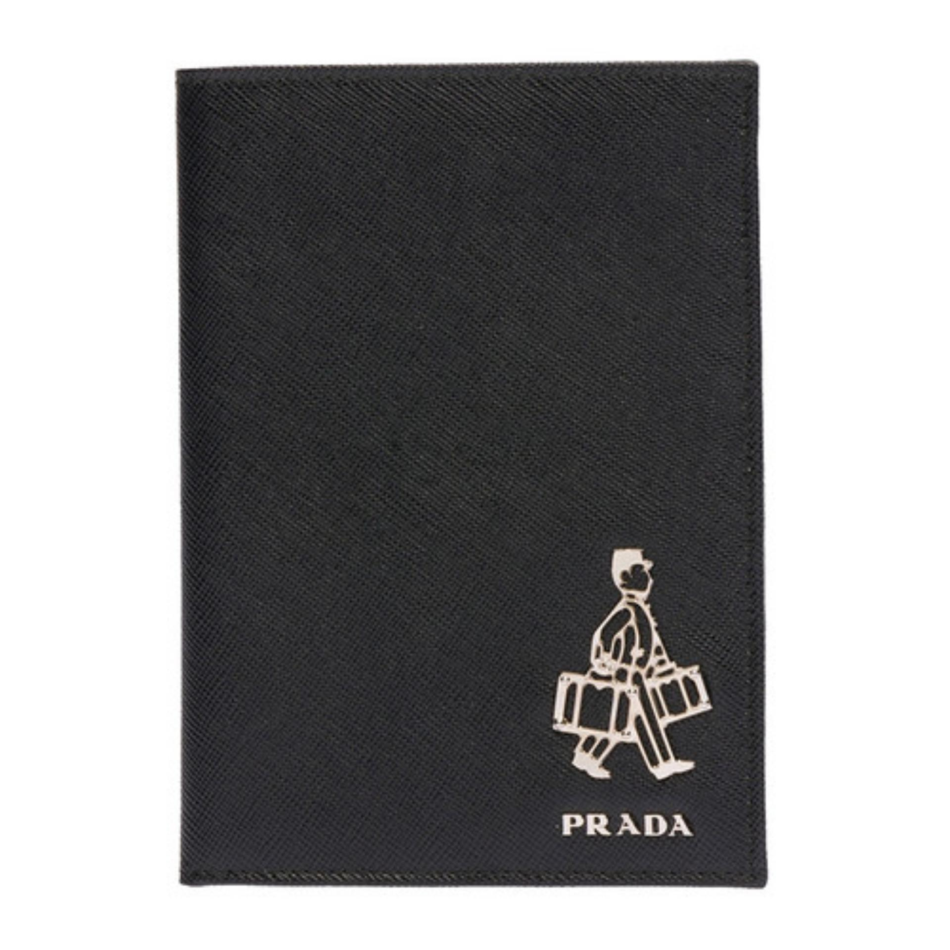 75b42cd6313179 Prada Saffiano 'Porter' Card Holder (Nero) # 2MV4129Z2F0002