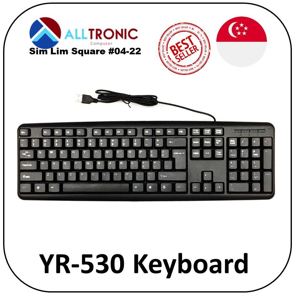 Waterproof Standard + Desktop USB Keyboard Model: YR-530