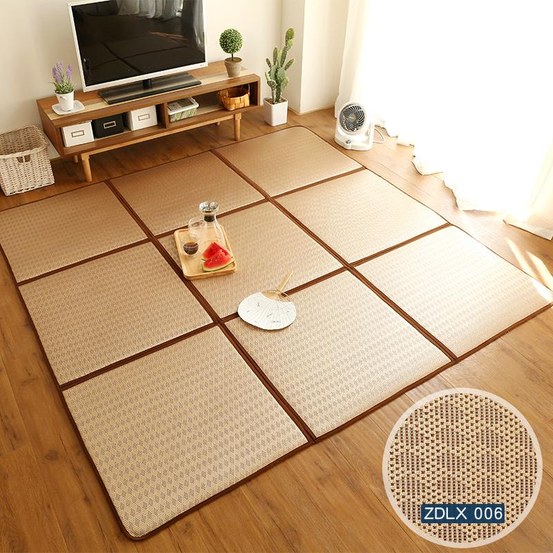 Japanese Style Folding Tatami Mat Summer Rattan Mat Living Room Rug Children Bedroom Summer Sleeping Mat Crawl Pad Puzzle Mats