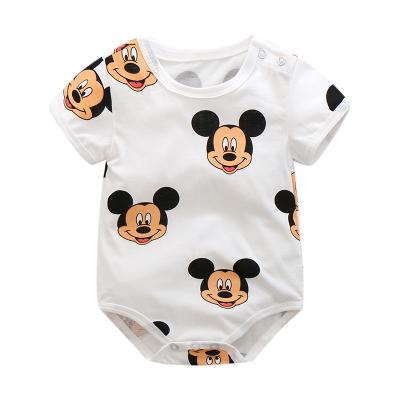 b1a90454bf5d4 New Newborn Baby Kid Toddler Casual Short Sleeve 100% Cotton Romper Jumpsuit  Bodysuit