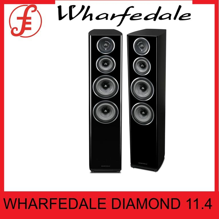 Wharfedale Diamond 11.4 Floorstanding Tower Speakers (pair) By Fepl.