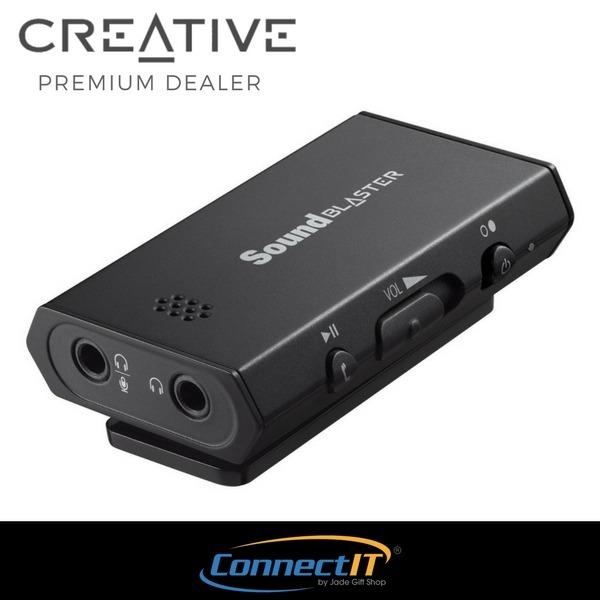 Price Creative Sound Blaster E1 Portable Headphone Amplifier With Integrated Mic And Dual Headphone Jacks For Pc And Smartphones Online Singapore