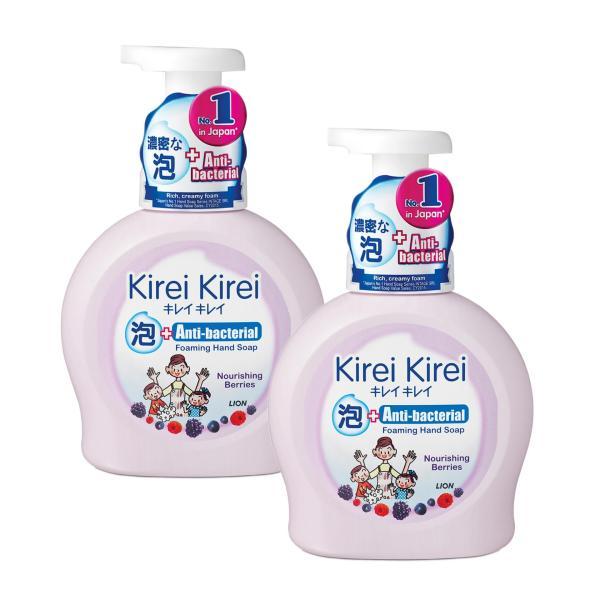 Buy Kirei Kirei Anti-Bacterial Foaming Hand Soap Nourishing Berries 450ml x 2 Singapore