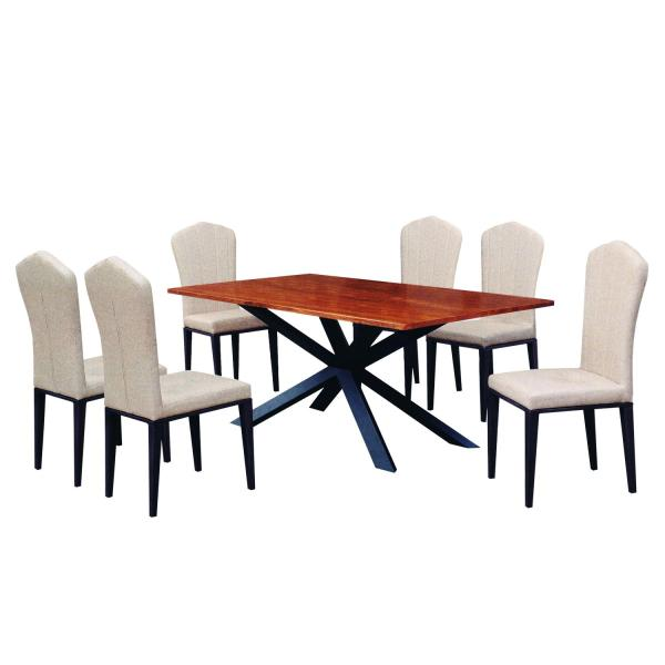 LIVING MALL_Falconner Dining Set 1+6_FREE DELIVERY
