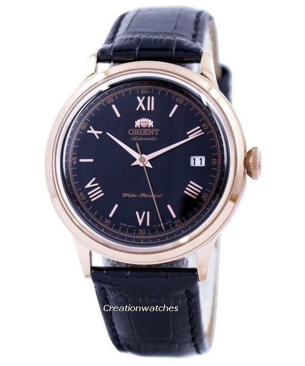 Orient 2nd Generation Bambino Classic Automatic Men's Black Leather Strap Watch FAC00006B0