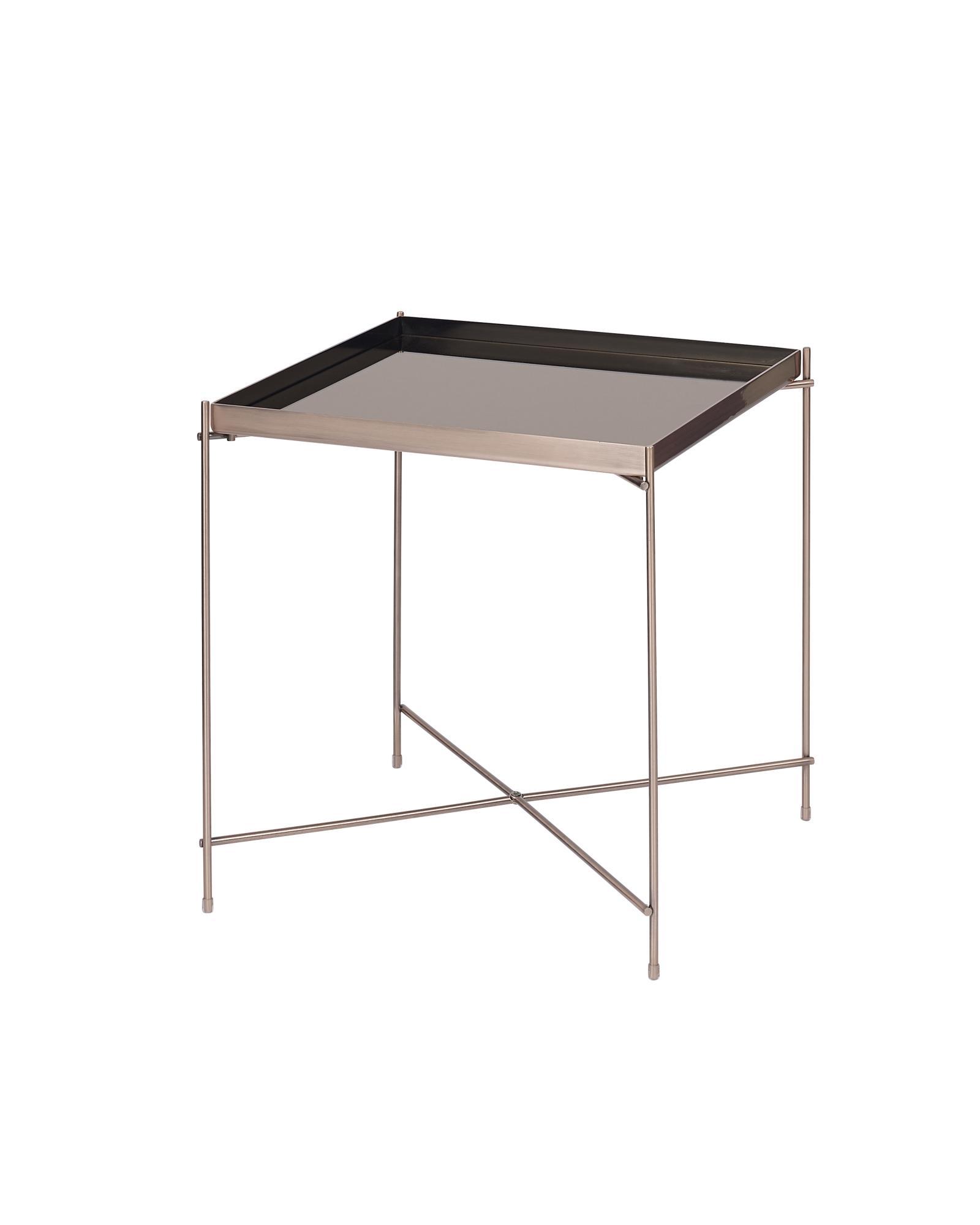 Bo Living SEA Oakland Copper Metal Mirror Side Table - Square