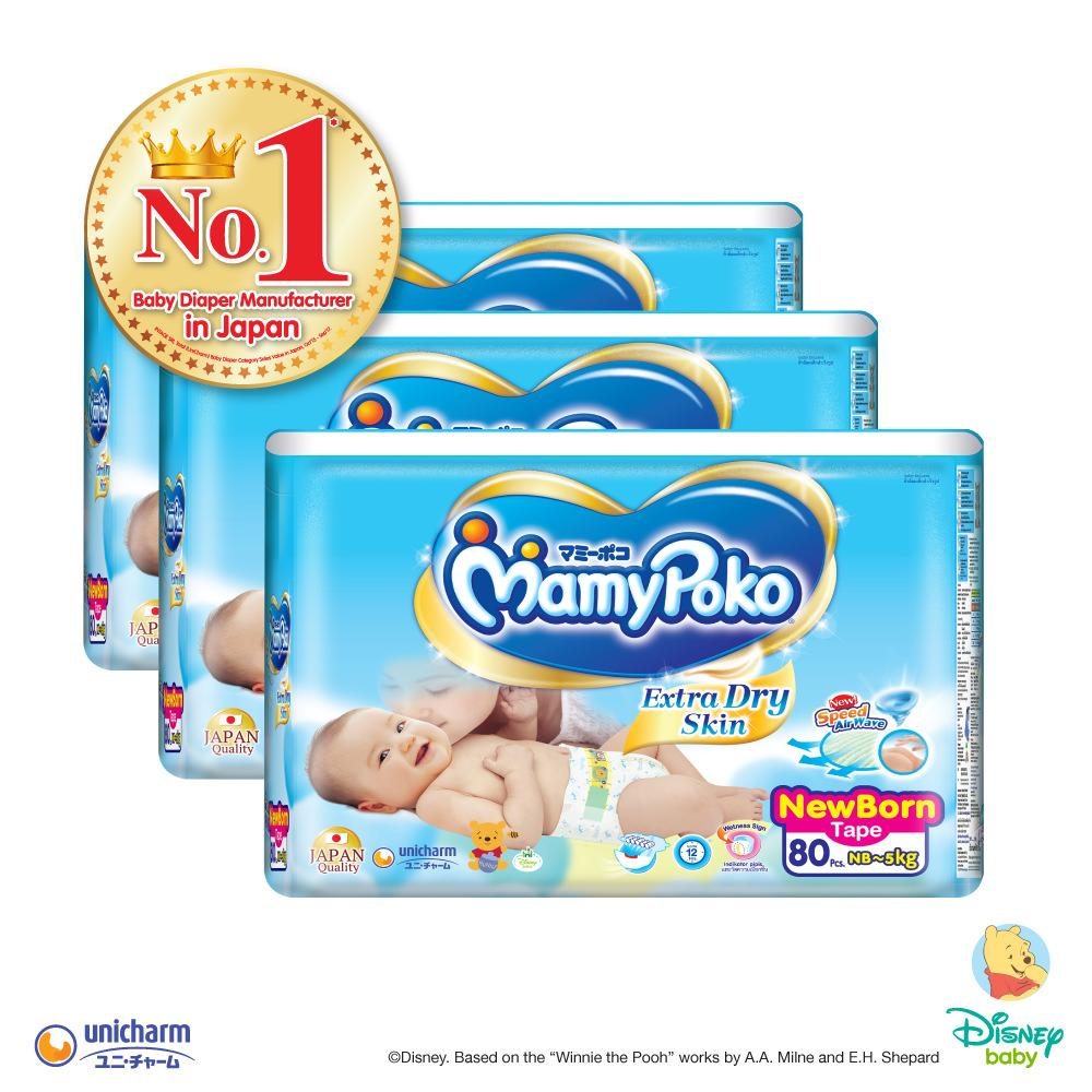 For Sale Mamypoko Tape Extra Dry Skin Nb80 3 Pack
