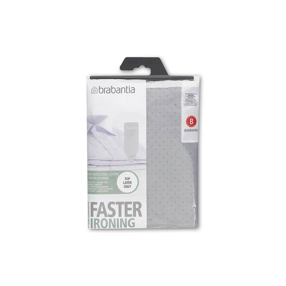 Review Brabantia Ironing Board Cover B 124X38Cm Cotton 2Mm Foam Metalised Silver Brabantia