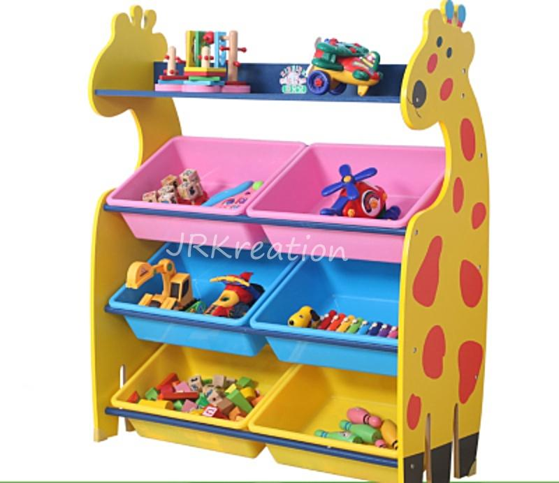 (Large) Tier Children Kids Giraffe Toy and Book storage organizer