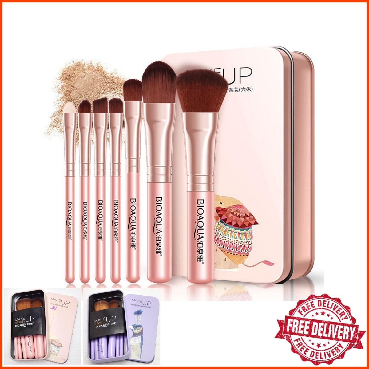 Buy Makeup Brushes Applicators Online Kuas Mascara Brush Naked Set 7 Pcs Synthetic Fiber With Soft Airy Bristles Styluscious