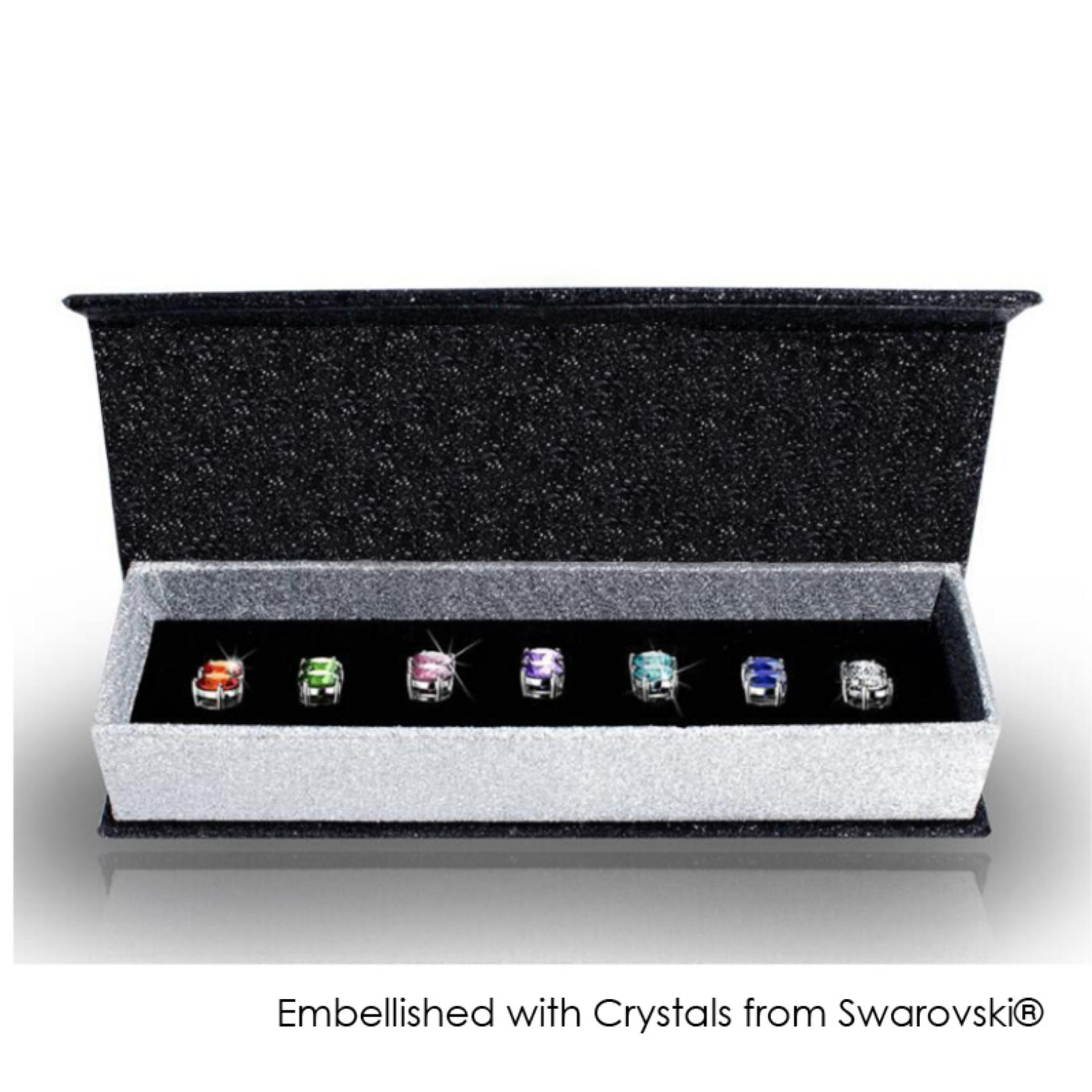 4438ae0b0465 7 Days Earrings Set - Embellished with Crystals from Swarovski®
