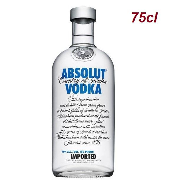 Absolut Vodka Blue 75cl (latest Packaging) By Newcastle Drinks.