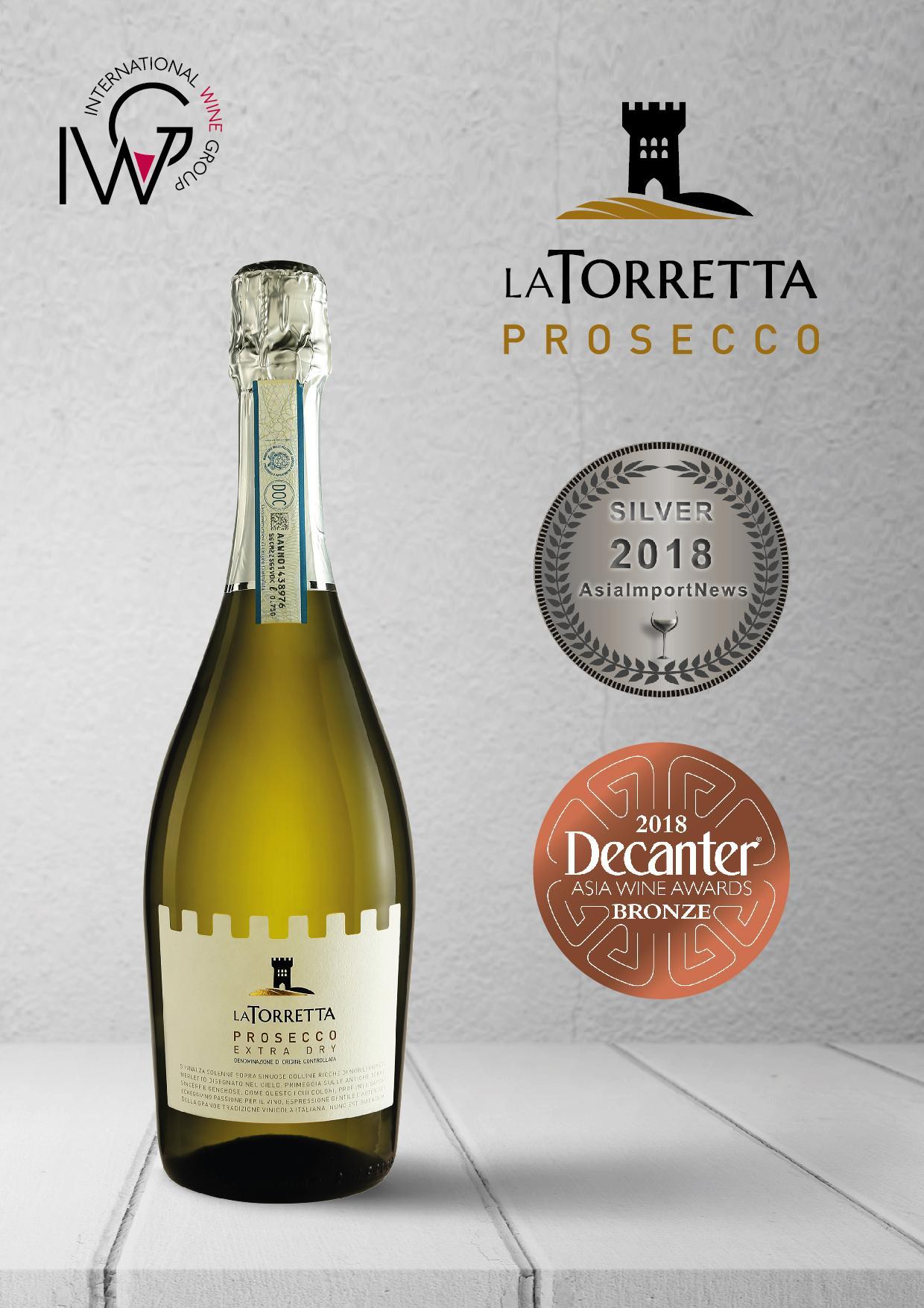 La Torretta Prosecco Extra Dry Doc, Veneto Italy By Wines4you.