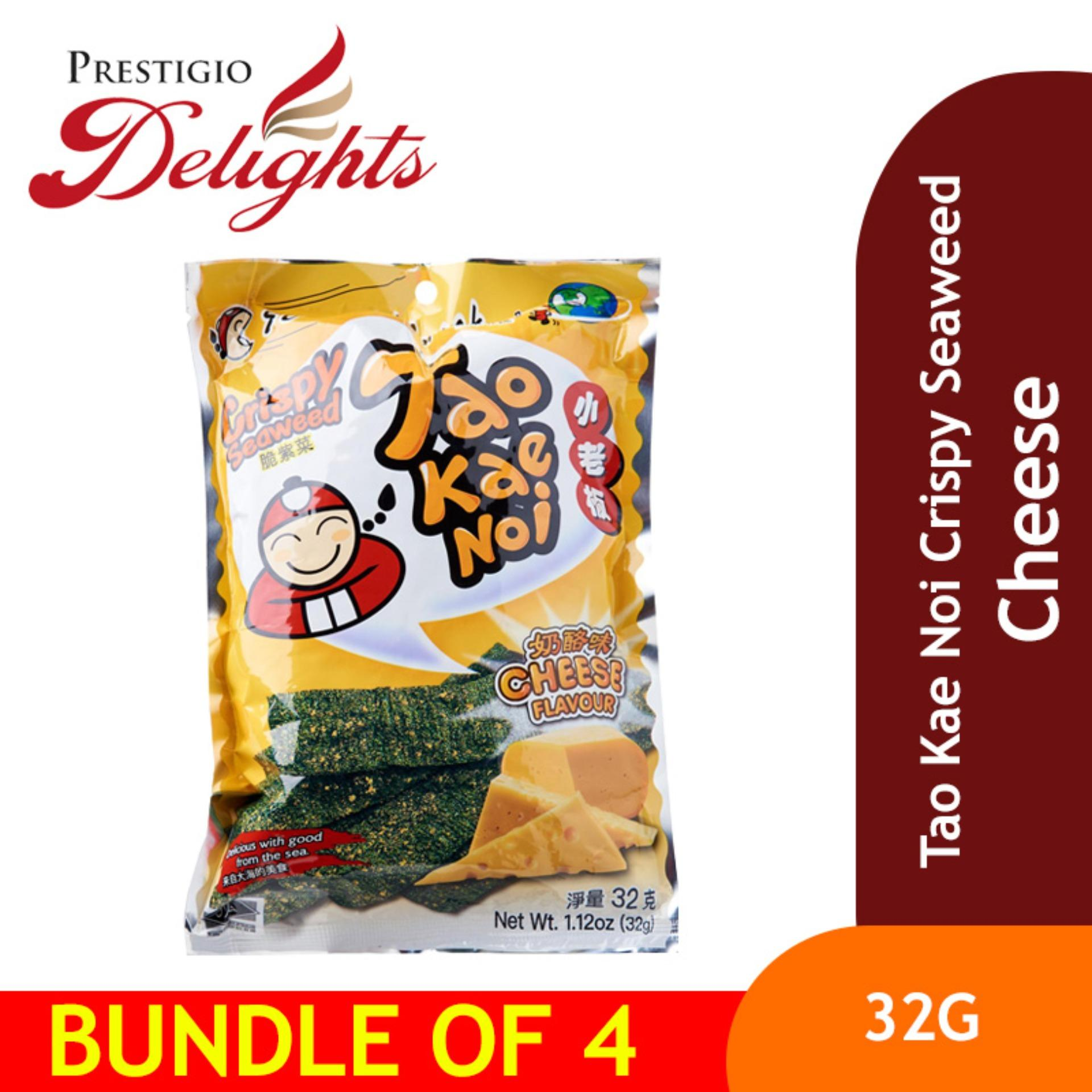 Tao Kae Noi Crispy Seaweed - 32g Cheese Bundle Of 4 By Prestigio Delights.