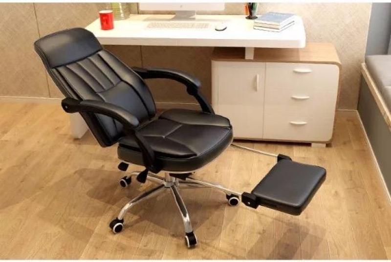 UMD Ergonomic offie chair leather chair boss chair with foot rest P22 (Free Installation) Singapore