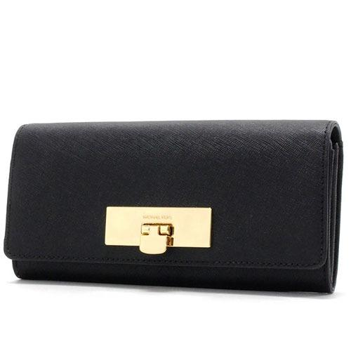 Price Compare Michael Kors Women S Callie Carryall Long Saffiano Leather Wallet Black