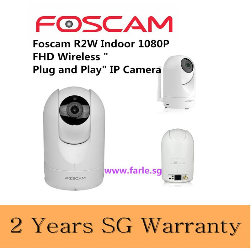Foscam R2 1080P Full HD, Pan and Tilt PnP Wireless IP Camera with WDR, 6x  Digital Zoom, 110° Wide Viewing Angle, Enhanced Two-way Audio and Rich  Media